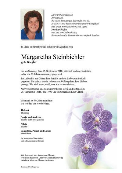 Steinbichler Margaretha