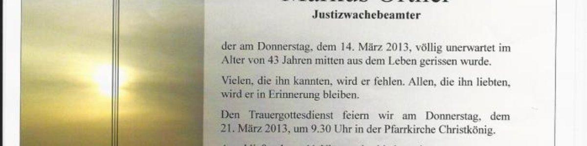 SV Urfahr trauert um Markus Ortner