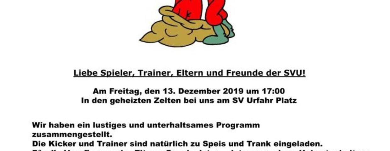 Einladung zur Kinder Weihnachtsfeier der SV Urfahr 1912